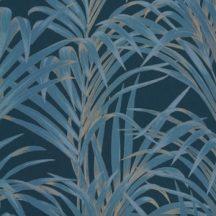 Casadeco 1930, 28926327  FOUGERES Natur stilizált nóvényi díszítés páfrányok sötétkék kék arany fényló mintarajzolat tapéta