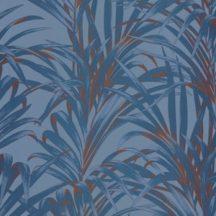 Casadeco 1930, 28926404  FOUGERES Natur stilizált nóvényi díszítés páfrányok kék árnyalatok bronz fényló mintarajzolat tapéta