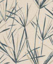 EMIL & HUGO Zanzibar 289830 PAPYRUS Natur papiruszlevelek finom színátmenettel krém bézs kőmosott indigókék tapéta