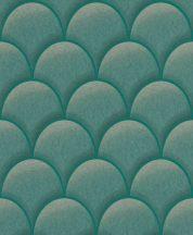 EMIL & HUGO Zanzibar 289885 TEATRO Art Deco 3D smaragdzöld zöld bézsarany finom csillogó hatás tapéta