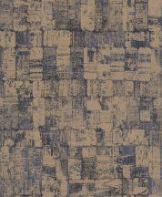 EMIL & HUGO Zanzibar 289946 DOMINO CHIC dominócsempe minta kék füstkék fekete arany finom csillogó hatás tapéta