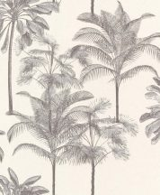 EMIL & HUGO Zanzibar 290119 PALM BOUQUET Natur trópusi pálmaliget törtfehér szürke árnyalatok tapéta