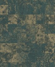 EMIL & HUGO Zanzibar 290157 MARBLE TILES Natur modulált patinás kőmintázat smaragdzöld arany matt-fényes tapéta