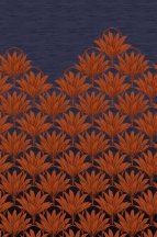 EMIL & HUGO Zanzibar 290263 BLOOM DECO Natur trópusi virágzattá alakuló pálmafák korallvörös füstkék digitális panel