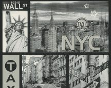 Boys and Girls 6/Faro 4, 30045-2 tapéta Gyerekszobai urbánus New York szürke ezüst fehér fekete tapé
