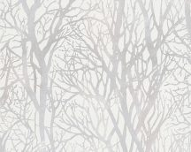 As-Creation New Life/Life 4, 30094-1 Natur fa-faágak krémfehér ezüstszürke csillogó mintarajzolat tapéta