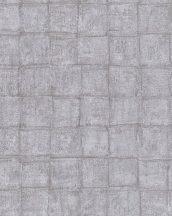 Marburg Casual 30413 geometrikus négyzetek szürke ezüst barna tapéta