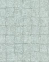 Marburg Casual 30414  geometrikus négyzetek zöld szürkészöld tapéta