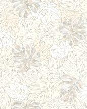 Marburg Casual 30431 natur botanikus levélmintázat bézs krém szürke tapéta