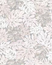 Marburg Casual 30433  natur botanikus levélmintázat krémfehér bézs szürke ezüst halvány rózsaszín tapéta