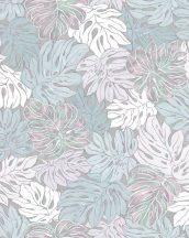Marburg Casual 30435  natur botanikus levélmintázat kék szürke ezüst zöld rózsaszín tapéta