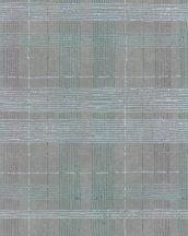 Marburg Casual 30439 geometrikus vonalakból kialakított kockás rácsminta szürke zöld lila világoskék ezüst tapéta