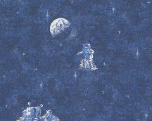 Boys & Girls 6, 30489-1 Gyerekszobai csillagok űrhajós kék fehér bézs világító tapéta