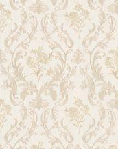 Marburg Home Classic Belvedere 30602 klasszikus barokk díszítőminta krémfehér roségold fénylő felület tapéta