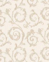 Marburg Home Classic Belvedere 30607  klasszikus indaminta krém bézs roségold fénylő felület tapéta