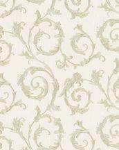 Marburg Home Classic Belvedere 30608  klasszikus indaminta krém bézs zöldarany fénylő felület tapéta