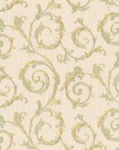 Marburg Home Classic Belvedere 30611  klasszikus indaminta bézs/világosbarna zöldarany aranysárga fénylő felület tapéta