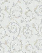 Marburg Home Classic Belvedere 30612  klasszikus indaminta halványszürke szürkéskék ezüst bézsarany fénylő felület tapéta