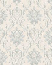 Marburg Home Classic Belvedere 30624 barokk díszítőminta krémszín ezüst szürkéskék fénylő felület tapéta