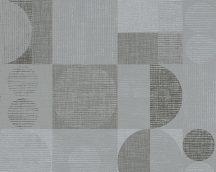 As-Creation Titanium 30644-2 Geometrikus grafikus retro szürke ezüst antracit fémes hatás tapéta
