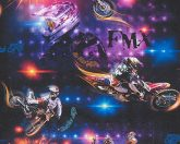 As-Creation  Boys & Girls 6, 30656-1 Gyerekszobai freestyle motorok fekete szines tapéta