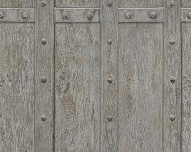 As-Creation Decoworld 2, 30684-2 natur ipari design szegecselt fa szürke fekete tapéta