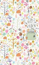 BN #Smalltalk 30804 Titkos Erdő fehér narancs pink falpanel