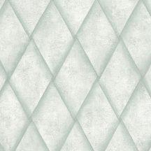 Marburg Platinum 31002 Geometrikus eltolt rombuszok halványzöld zöld árnyalatok tapéta