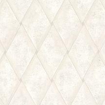 Marburg Platinum 31003 Geometrikus eltolt rombuszok krémfehér szürke tapéta