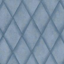 Marburg Platinum 31005  Geometrikus eltolt rombuszok kék árnyalatok arany tapéta