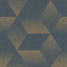 Rasch ZOYA 311013 Geometrikus azúrkék fényes arany irizáló színhatás fényes mintarészletek tapéta