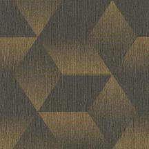 Rasch ZOYA 311020  Geometrikus antracit fényes arany irizáló színhatás fényes mintarészletek tapéta
