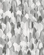 Marburg Imagine 31736  Natur realisztikus levél mintázat fehér szürke sötétszürke tapéra