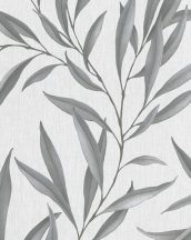 Marburg Modernista 32201 Natur levélmotívom szürkésfehér szürke ezüst fénylő mintafelület tapéta