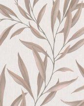 Marburg Modernista 32203 Natur levélmotívom bézs barna fénylő mintafelület tapéta