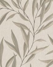 Marburg Modernista 32204 Natur levélmotívom bézs barna szürkésbézs szürkésbarna fénylő mintafelület tapéta