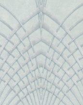 Marburg Modernista 32252 Art Deco hegyes ívek szürke szürkészöld ezüst fénylő mintafelület tapéta