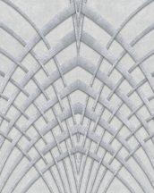 Marburg Modernista 32253 Art Deco hegyes ívek világos szürke kékes szürke ezüst fénylő mintafelület tapéta
