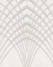 Marburg Modernista 32254 Art Deco hegyes ívek szürkésfehér szürkésbézs arany fénylő mintafelület tapéta