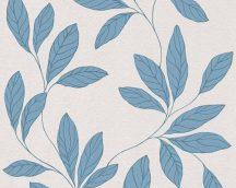As-Creation Amory 32421-4  tapéta Natur levélmotívum halvány krémszürke kék fénylő mintarajzolat tapéta