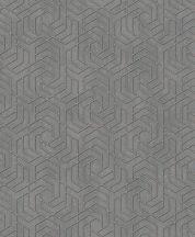 Marburg City Glam/Urban Spaces 32609 Grafikus betonhatású háttéren labirintus minta sötétszürke roségold fémes hatás tapéta