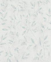 Marburg City Glam/Urban Spaces 32631 Natur Levél-design fehér kék ezüst fémes hatás tapéta