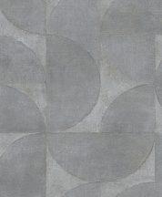 Marburg Vintage Deluxe 32820 Vintage Geometrikus Grafikus beton háttéren óriás körök körívek szürke szürkésbarna ezüst arany tapéta