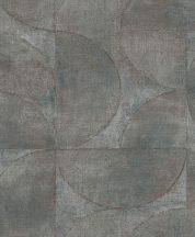 Marburg Vintage Deluxe 32823 Vintage Geometrikus Grafikus beton háttéren óriás körök körívek kék szürke szürkésbarna ezüst rézszín tapéta