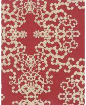 Eijffinger Luz 330401 modern neobarokk láncszerű pontokkal kialakított díszítőminta piros bézsarany applikált csillogó szemcsék tapéta