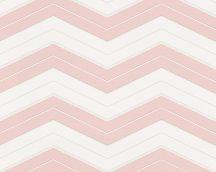 As-Creation Designdschungel 34242-2 cikk-cakk minta fehér rózsaszín tapéta