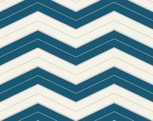 As-Creation Designdschungel 34242-4 cikk-cakk minta fehér kék tapéta