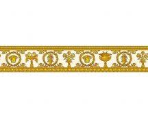 As-Creation Versace 3, 34305-2  medúza babér fehér arany narancs bordűr