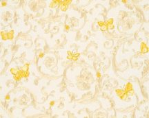 As-Creation Versace 3, 34325-1 indaminta pillangókkal krém bézs aranysárga tapéta