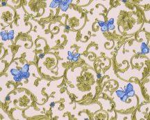 As-Creation Versace 3, 34325-6  indaminta pillangókkal halvány rózsaszín zöldarany kék tapéta
